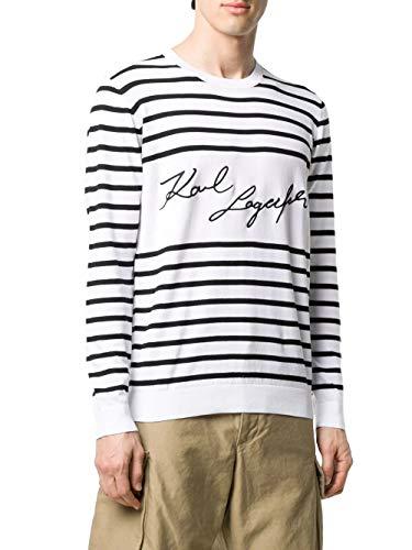 Karl Lagerfeld Karl Signature 655040-501306 Pullover Marineras Weiß/Schwarz, Weiß Large