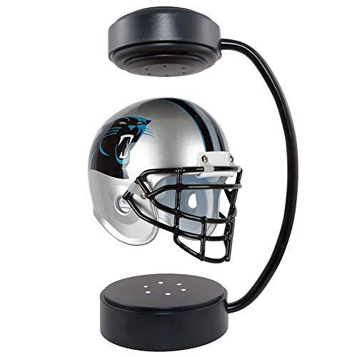 Schwebe Panthers Helme NFL Collectibles Rotierender Helm mit elektromagnetischer Ständer und LED Atmosphäre Lampe American Football Best Creative Geschenke