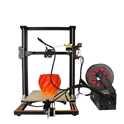 ZHAORLL Creality cr-10s Hochpräziser 3D-Großdrucker, Erkennung defekter Materialien, Speicherausdruck beim Drucken, Zweischrauben-Drucker patentierter Technologie,Black