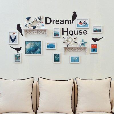 Fotolijstjes voor aan de muur, vogel, alfabet, wandposters, gecombineerde slaapkamer, woonkamer, wanddecoratie, geïntegreerde plank, hoofdwand Swing-, 10 uur alle witte cartoon mediterrane