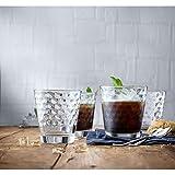 WMF 948642040 Wassergläser Wabenmuster Tumbler Cocktail, Set 4-teilig, 265 ml - 3
