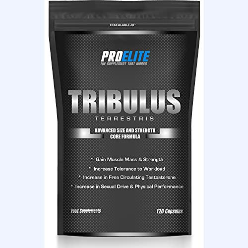 PRO-ELITE Tribulus Terrestris Strong 120 Capsules | 95% Saponins with High...