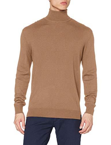 Scotch & Soda Herren Ecovero Rollkragenpullover Pullover Sweater, Camel Melange 0760, XL