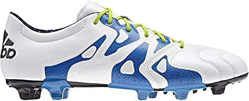 adidas X 15.2 FG/AG Leather Zapatillas, Hombre, Blanco, 41 1/3 🔥
