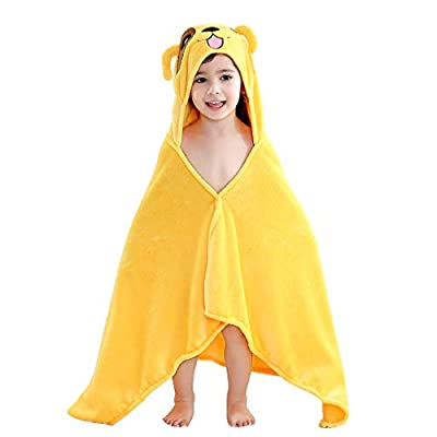 MICHLEY Baby Hooded Animal Bath Towels Ultra Soft Large Swimming Beach Bathrobe, Perfect Shower Gifts for Toddlers 0-5T