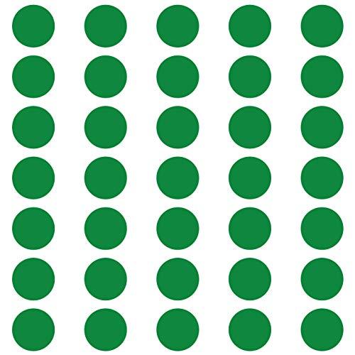 kleb-Drauf | 35 Punkte | Grün - matt | Wandtattoo Wandaufkleber Wandsticker Aufkleber Sticker | Wohnzimmer Schlafzimmer Kinderzimmer Küche Bad | Deko Wände Glas Fenster Tür Fliese