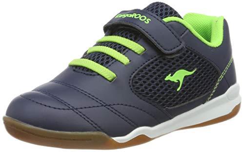 KangaROOS Incourt EV Unisex-Kinder Sneaker, Blau (Dark Navy/Lime 4054), 34 EU