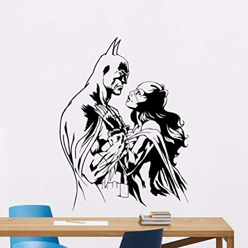Fledermaus Held Katze Mädchen Wandaufkleber Held Vinyl Kinderzimmer Dekoration Abnehmbare Held Design Wandkunst Vinyl 42 cm X 55 cm