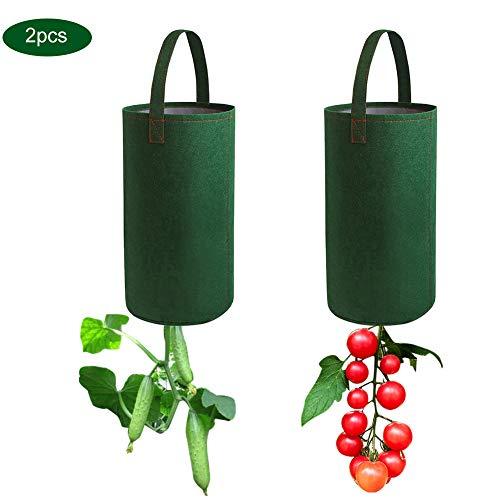 Surenhap Filz hängende Tomaten Pflanzer Blumenpflanze wachsen Tasche Umgedrehter Tomatenpflanzer