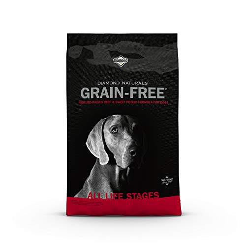 Diamond Naturals Grain Free Real Meat Recipe Premium Dry Dog Food With Real Pasture Raised Beef 28Lb