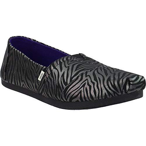 TOMS - Womens Alpargata Espadrille, Size: 8.5 B(M) US, Color: Black Zebra Shimmr Print