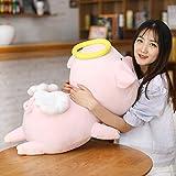 N / A Angel Piggy Juguetes de Peluche Suave Relleno de Dibujos Animados Animal Cerdo Almohadas bebé Dormir muñecas niños Novias 80cm