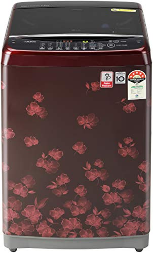 LG 7.0 Kg Inverter Fully-Automatic Top Loading Washing Machine (T70SJDR1Z, Red Floral)