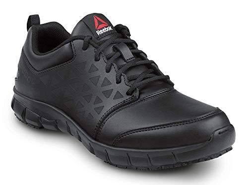 Reebok Work Sublite Cushion Work, Black, Men's, Athletic Style Slip Resistant Soft Toe Work Shoe (13.0 W)