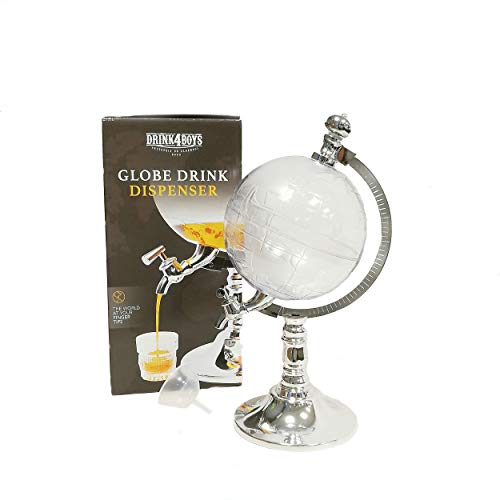Getränkespender Zapfanlage Globus Bierspender mit Zapfhahn Trinksäule Biersäule Getränkesäule Whiskykaraffe Stil Alkohol Dekanter Drink Dispenser für Schnaps Haus Bar und Party Mini Bar 1500 ml