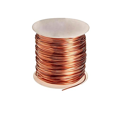 XIAOHUAHUA Alambre De Cobre De Artesanía 4~18 Calibre para La Fabricación De Joyas, Esculpiendo, Tejido, Hobby, Envoltura De Metal, Suave Y Flexible, 1Kg,1.5mm(15 Gauge)