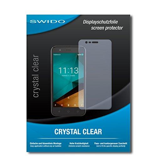 SWIDO Schutzfolie für Vodafone Smart Prime 7 [2 Stück] Kristall-Klar, Hoher Festigkeitgrad, Schutz vor Öl, Staub & Kratzer/Glasfolie, Bildschirmschutz, Bildschirmschutzfolie, Panzerglas-Folie