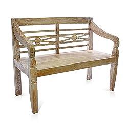 DIVERO 2-Sitzer antike Gartenbank