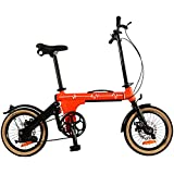 ZJWD Mini Bici Pieghevole da 16 Pollici, Mountain Bike, per Il pendolarismo della metropolitana Portatile Bicicletta per Bambini Bambini Adulti,B