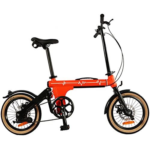 ZJWD Mini Bicicleta Plegable de 16 Pulgadas, Bicicleta de montaña, para desplazamientos en Metro Bicicleta portátil para niños, niños y Adultos,B
