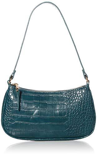 The Drop Baguette-Tasche Melanie für Damen, Blaugrün, Einheitsgröße