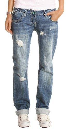 bestyledberlin Damen Jeans Hosen, Baggyjeans, Damen Boyfriendjeans, Hüftjeans j1z 40/L
