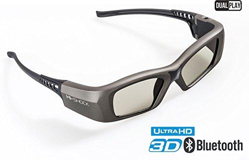 Hi-SHOCK BT/RF Pro Oxid Diamond | Bluetooth 3D Brille für 3DTV / HDR & 3D-RF Beamer von Sony, Epson, Jvc, Samsung, Panasonic [Shutterbrille | 120 Hz | wiederaufladbar | 39g | Funk]