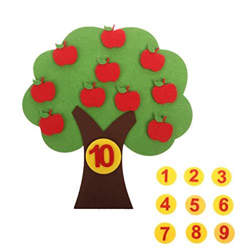 Manyao - Juguete pedagógico digital con manzana, juguete educativo Montessori, juguete creativo para puzle no tejido, jardín de niños, juguetes matemáticos