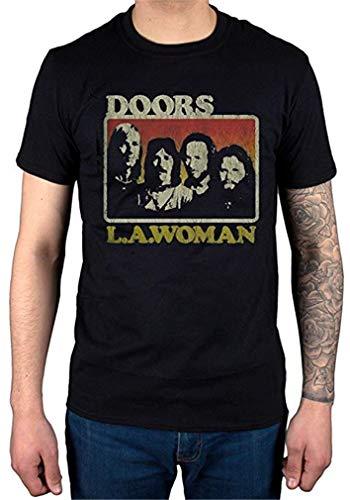 Men's Short Sleeve The Doors LA Woman T-Shirt Band Music Rock