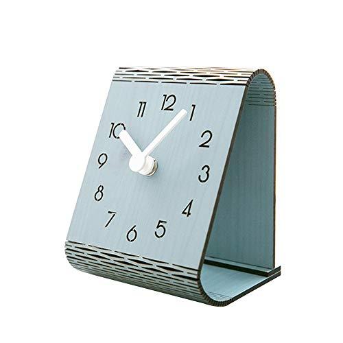 SGR SHOPS Moderne minimalistische digitale klok, houten tafelklok, stille wandklok, geschikt voor woonkamer slaapkamer kantoor, wanddecoratie, Size, B