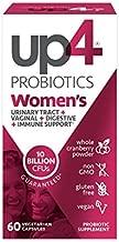 up4 Women's Advanced Care Probiotic Supplement   Vaginal Health + Digestive + Immune Support*   25 Billion CFUs Guaranteed   Non-GMO, Gluten Free, Vegan   60 Vegetarian Capsules