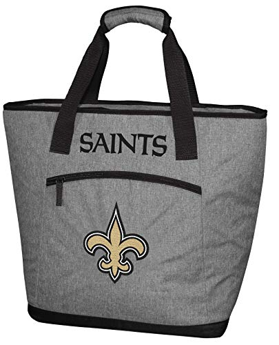 Rawlings NFL Soft Sided Insulated Large Tote Cooler Bag, 30-Can Capacity, New Orleans Sains, Gold
