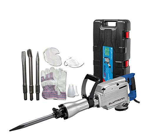 Laptronix Electric Demolition Hammer Drill Concrete Breaker Power Jack Hammer Chisel