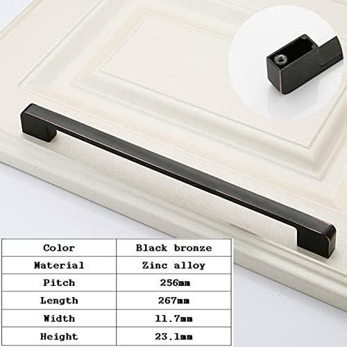 2 PCS Max 50% OFF American Zinc Elegant Alloy Black Furniture Handles Hardware Long
