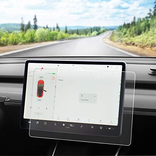 Model 3 Displayschutzfolie aus gehärtetem Glas für Tesla Modell 3, 9H, Kratzfest und stoßfest (Matt)