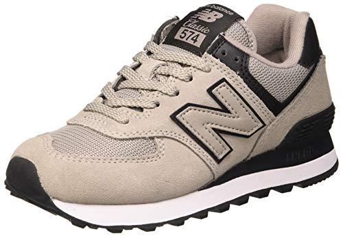 New Balance 574v2, Damen Sneaker, Grau (Grey/Black Grey/Black), 39 EU