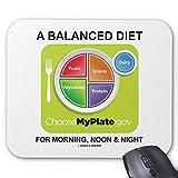 Una dieta equilibrada para el mediodía y la noche Myplate Mouse Pad 18 × 22 cm