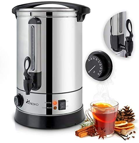 Dalkeyie Stainless Steel Catering Tea Urn / Water Boiler, Hot Water Boiler & Dispenser, Suitable for Commercial/Office Use