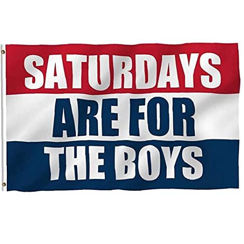 PiniceCore Samstags Sind Für Die Jungen Drucken Flag Ratherities Party Schlafsaal Balkon Dekoration Banner College Flag 3x5 Ft