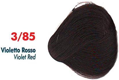 Tinte de Pelo Profesional Violín Rojo Rojos Cobrizos con Amoníaco 3/85 Permanente 100ml Made in Italy