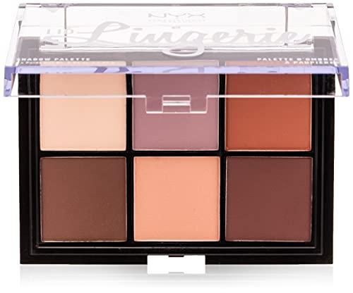 NYX Professional Palette ombretti Makeup Lid Lingerie, Pigmenti compatti, 6 Tonalità con Texture cremosa matte