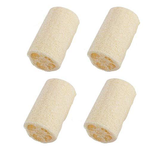 Loofah Natural,4 PCS Esponja de Luffa Luffa Nature Exfoliante Loofah Spa para Baño para Ducha Corporal Limpieza de Cocina Depurador