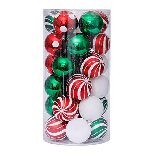 NLRHH Weihnachten Kugeln Bälle Ornamente Gemalt Kugel Set Kugeln Baum Hängen an Anhänger for Haus Hochzeit Lieferungen Peng (Color : 3)