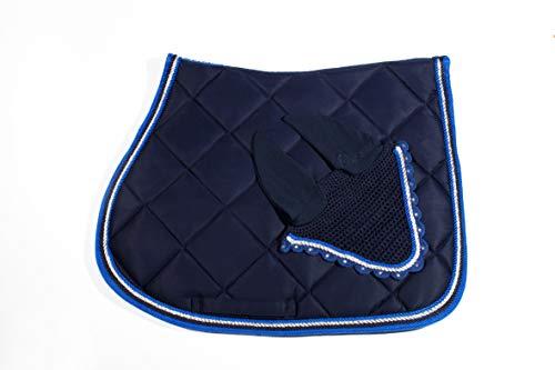 WAGNER VS/Spring Tapis de selle avec housse anti-mouches et strass Bleu roi