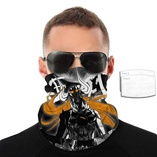 Anime Bleach Unisex Face Cover with 2filter Face Cover Masks Face Mask Elasticity Breathable Bandanas Multifunctional Seamless for Outdoor