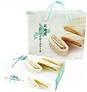 白いパイロールケーキ【北海道白いパイロールケーキ】ふんわり白いパイロール【ホワイトチョコレート クリーム】ミルフィーユ仕立て