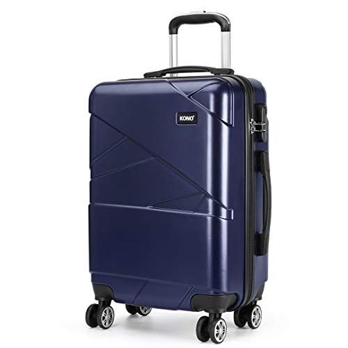 "Kono Suitcase Super Lightweight Hard Shell PC Luggage 4 Spinner Wheel Travel Trolley Case 20"" Hand Luggage Cabin Carry-On"
