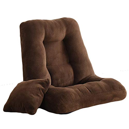 HYLFF Floor Folding Chair Gaming Sofa Chair Lounger Coral Fleece Surround Type Adjustable Sleeper Bed Couch Lazy Recliner,Brown