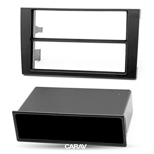 carav 11-001 DIN Autoradio Radioblende mit Ablagefach DVD Dash Installation Kit für Audi A4 (B6), A4 (B7)/Seat Exeo Faszie mit 182 * 53 mm und 182 * 114 mm