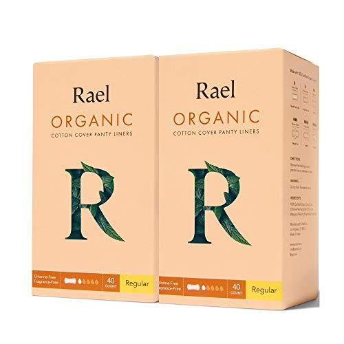 Rael 100% Organic algodón Regular Panty Liners – Unscente